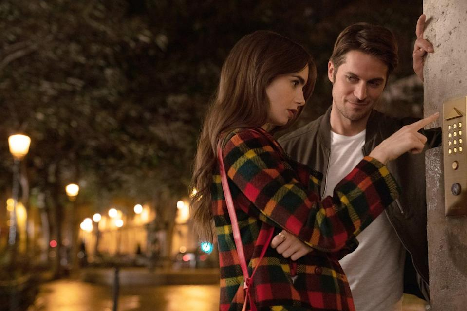 """<p>This year's most polarizing new comedy brings together the fish-out-of-water workplace comedy and a whirlwind Parisian romance. When Emily (Lily Collins) unexpectedly heads to France for work, she gets in over her head with work politics - not to mention with her very cute (and very unavailable) neighbor.</p> <p><a href=""""http://www.netflix.com/title/81037371"""" class=""""link rapid-noclick-resp"""" rel=""""nofollow noopener"""" target=""""_blank"""" data-ylk=""""slk:Watch Emily in Paris on Netflix"""">Watch <strong>Emily in Paris</strong> on Netflix</a>.</p>"""
