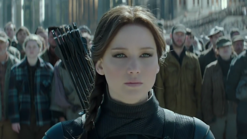 Jennifer Lawrence in The Hunger Games: Mockingjay (Credit: Lionsgate)