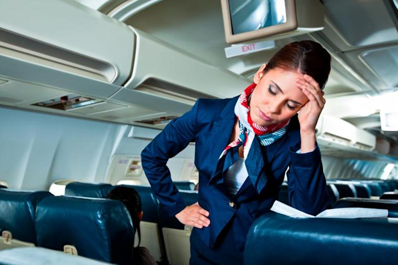 Flight attendants deal with a lot. Photo: Getty