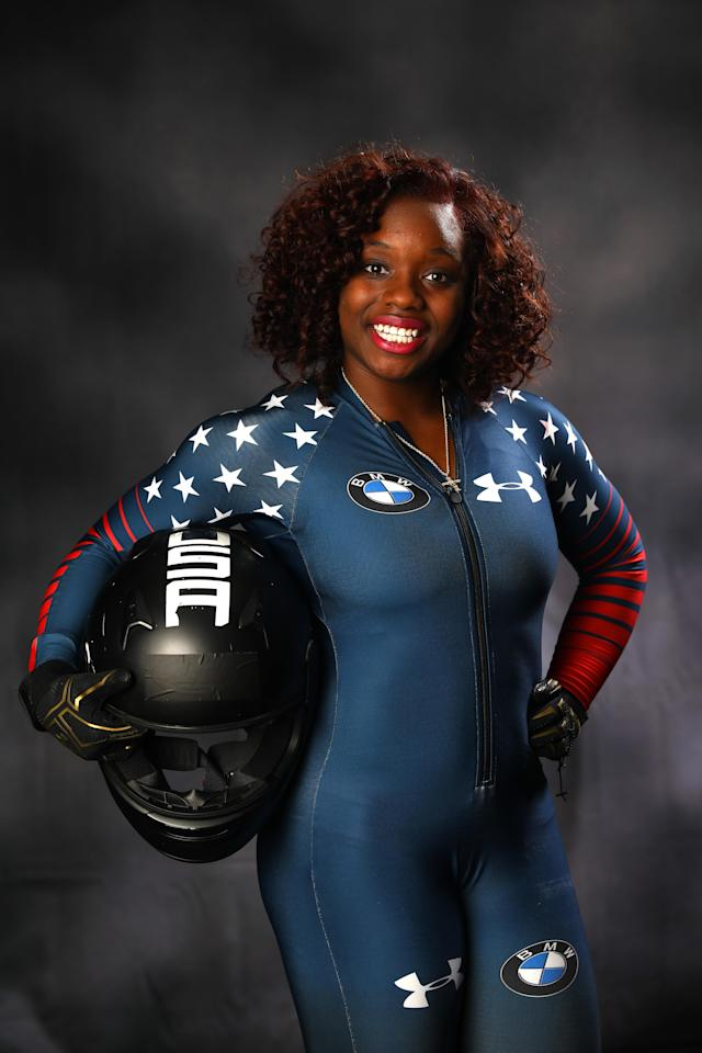 Kehri Jones for the Team USA Media Summit ahead of the Pyeongchang 2018 Olympic Winter Games, on Sept. 25, in Park City, Utah. (Photo: Getty Images)