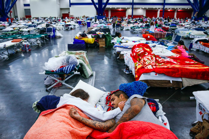 <em>Some 10,000 residents are taking shelter in the George R. Brown Convention Center (PA)</em>