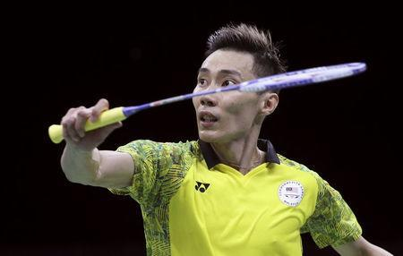Badminton - Gold Coast 2018 Commonwealth Games - Men's Singles - Gold Medal Match - India v Malaysia - Carrara Sports Arena 2 - Gold Coast, Australia - April 15, 2018. Lee Chong Wei of Malaysia in action. REUTERS/Athit Perawongmetha