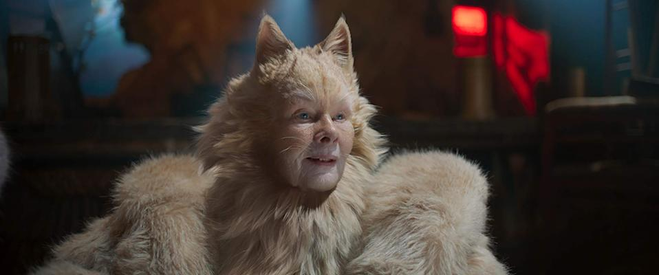 Judi Dench prepares to sing in the much maligned Cats (Image by Universal)