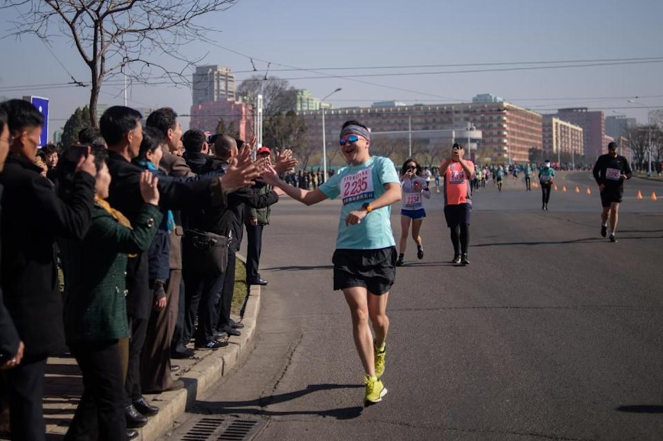 Around 950 Westerners entered this year's marathon compared to some 450 last year when numbers slumped (AFP Photo/KIM Won Jin )
