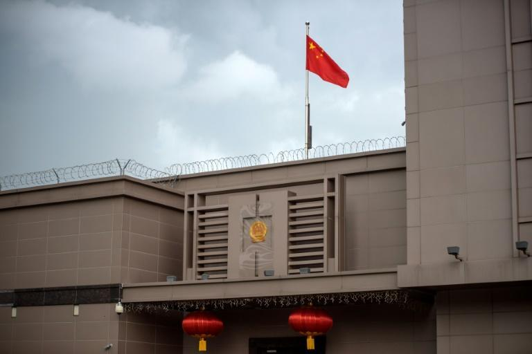 The Chinese flag flies over its consulate in Houston -- which the US has ordered closed, in the latest row between Beijing and Washington
