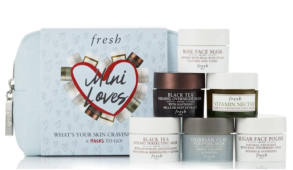 <p>The <span>Fresh Mini Loves Mini Mask Set</span> ($56) is perfect for those who love to multimask.</p>