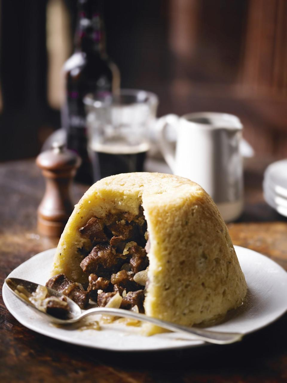 "<p>Pep up your average steak & kidney pudding with the addition of Guinness for a St Patrick's Day inspired dinner [Photo: <a href=""http://www.waitrose.com/recipes"" rel=""nofollow noopener"" target=""_blank"" data-ylk=""slk:www.waitrose.com/recipes"" class=""link rapid-noclick-resp"">www.waitrose.com/recipes</a>] </p>"