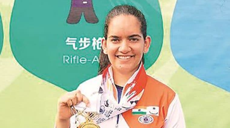 chandigarh shooter anjum moudgill, arjuna award, ISSF World Cup, gurpreet singh sandhu, sports news, indian express