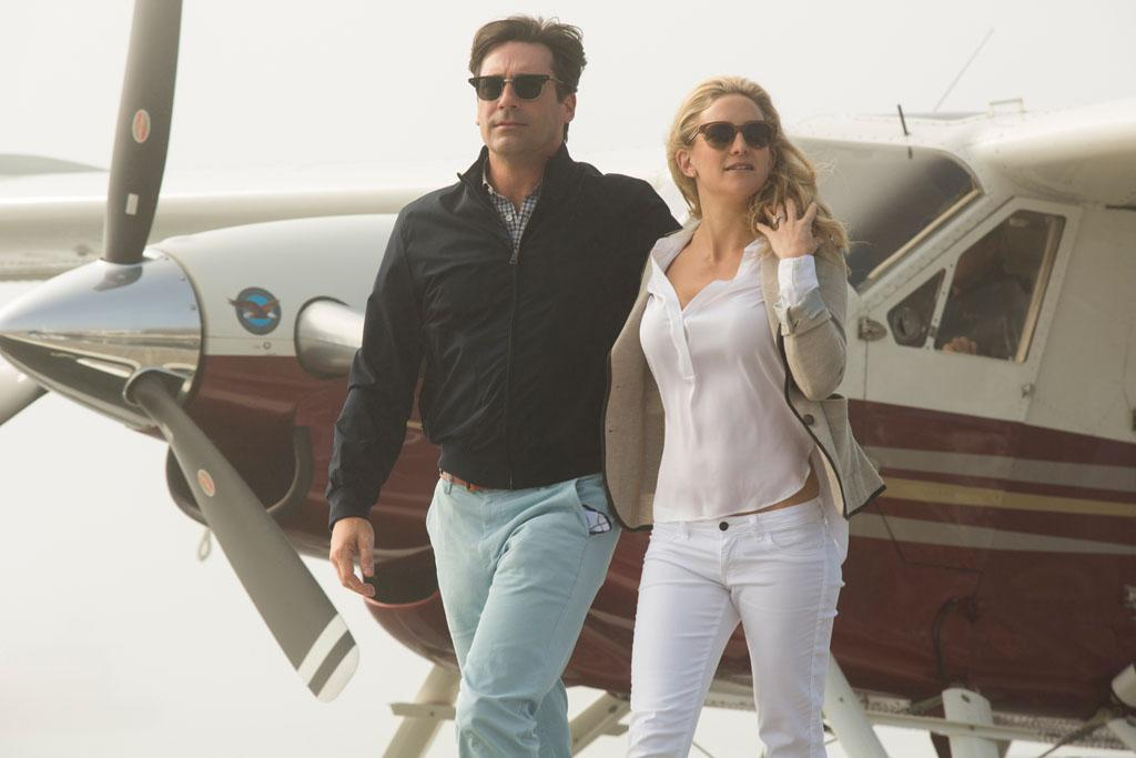 "Jon Hamm and Kate Hudson in HBO Films' ""Clear History."""