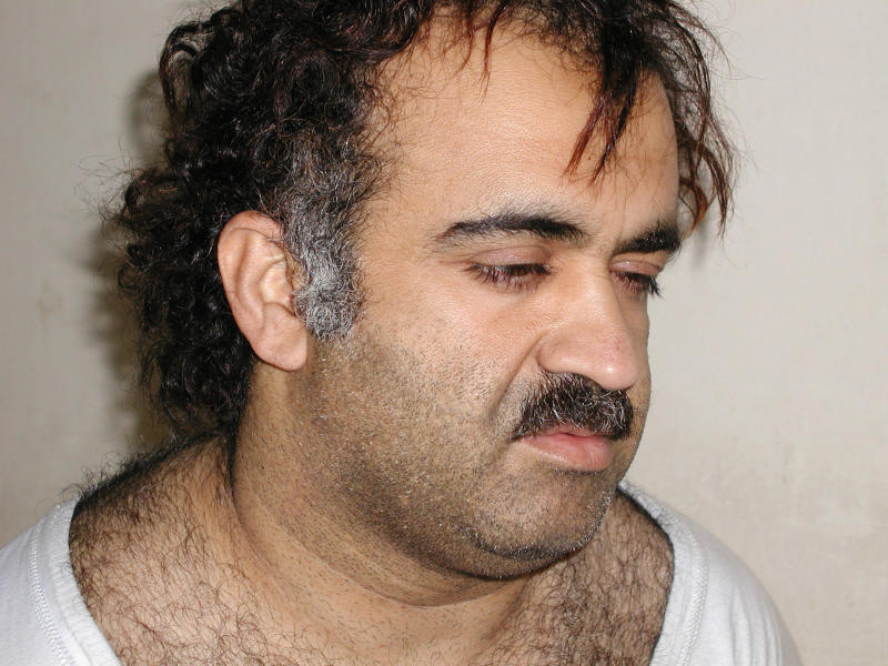 Khalid Sheikh Mohammed is shown in this file photograph during his arrest on March 1, 2003. Mohammed, the accused mastermind of the September 11, 2001 attacks on the United States, and four other top terrorism suspects held at Guantanamo Bay, Cuba will be sent to New York to be tried in a criminal court, U.S. Attorney General Eric Holder said on November 13, 2009. REUTERS/Courtesy U.S.News & World Report/Files (UNITED STATES CRIME LAW CONFLICT POLITICS)