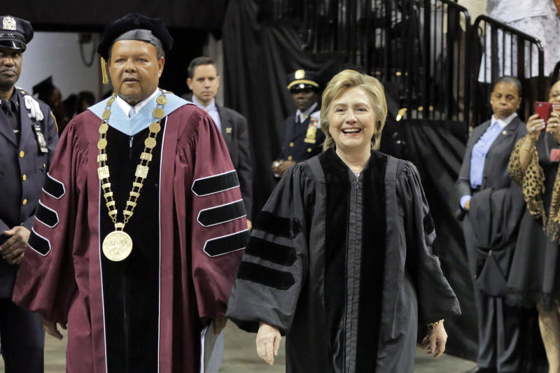 Clinton to graduates: 'Never let anyone silence your voice'