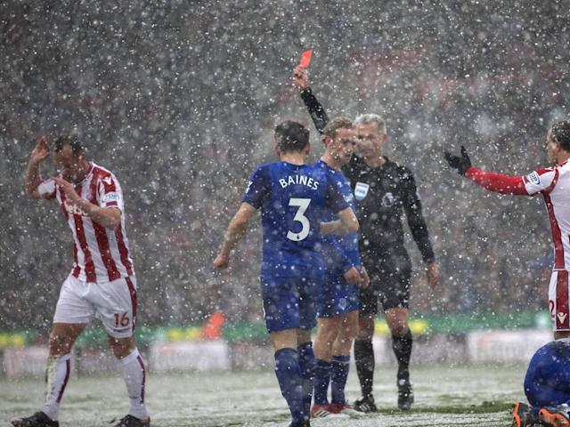 Two-goal Cenk Tosun the hero as Everton down 10-man Stoke