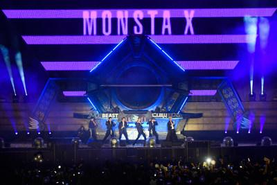 Monsta X performing at MDL Beast, a three-day festival in Riyadh, Saudi Arabia, bringing together the best in music, performing arts and culture. (PRNewsfoto/MDL Beast Festival)