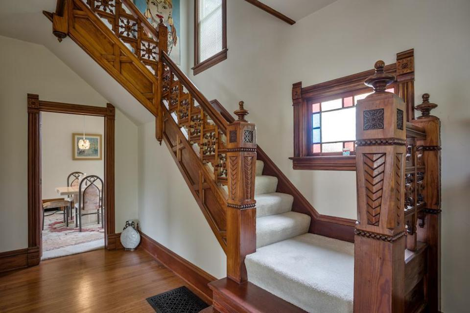victorian home staircase