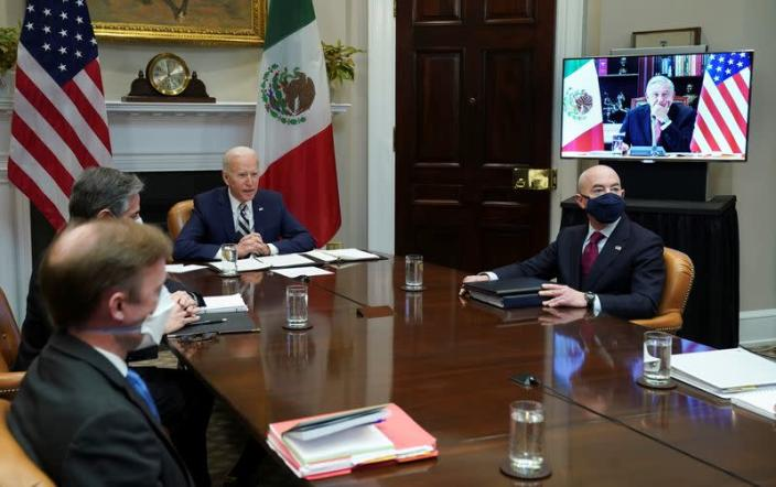 Biden has a virtual meeting with Mexico President Andres Manuel Lopez from the White House in Washington
