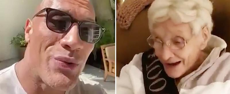 Dwayne Johnson's Birthday Video For a 100-Year-Old Superfan Is Heartwarming and Hilarious
