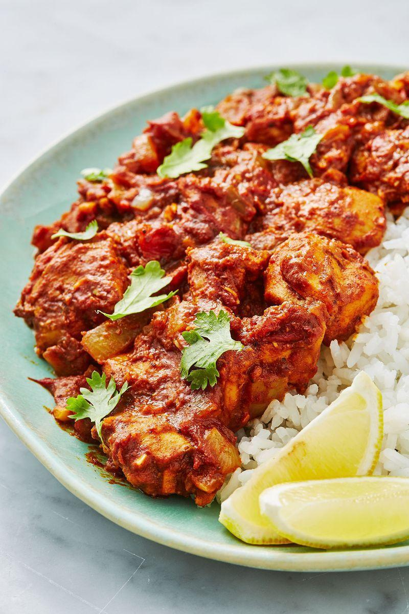 """<p>We love this easy, healthy chicken bhuna recipe, a sure-fire dinner table win - the ultimate crowd pleaser.</p><p>Get the <a href=""""https://www.delish.com/uk/cooking/recipes/a28867202/chicken-bhuna/"""" rel=""""nofollow noopener"""" target=""""_blank"""" data-ylk=""""slk:Chicken Bhuna"""" class=""""link rapid-noclick-resp"""">Chicken Bhuna</a> recipe.</p>"""