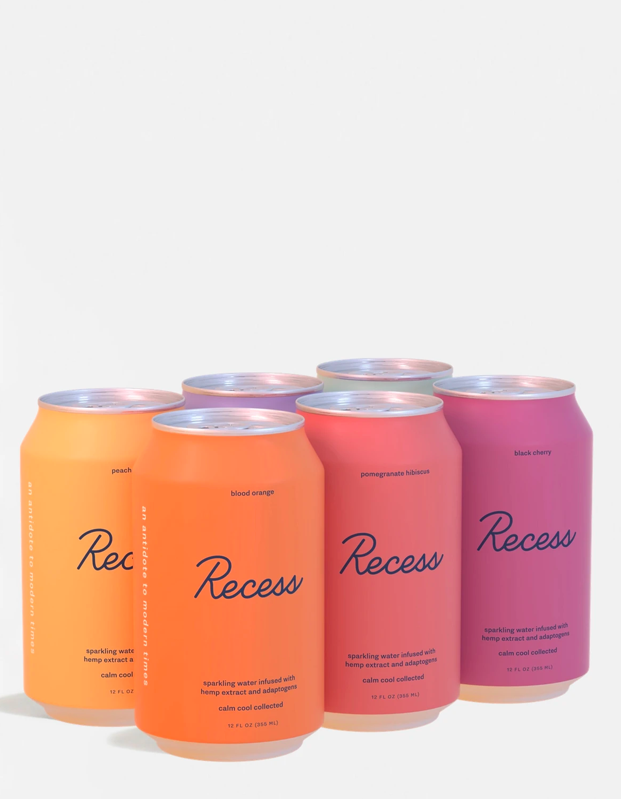 "The person who aspires to have a fridge solely dedicated to elevated beverages will appreciate this variety pack of Recess CBD-infused sparkling beverages, including pomegranate hibiscus, peach ginger, blackberry chai, and more. $60, Standard Dose. <a href=""https://standarddose.com/collections/recess/products/recess-variety-sampler"" rel=""nofollow noopener"" target=""_blank"" data-ylk=""slk:Get it now!"" class=""link rapid-noclick-resp"">Get it now!</a>"