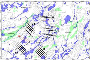 Figure 2 Proposed areas for upcoming HLEM survey at the East Preston Uranium Project