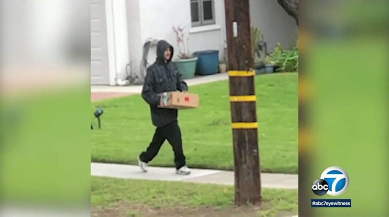 Calif. Woman Shames Man Who Allegedly Stole Package From Porch — and He Puts Package Back