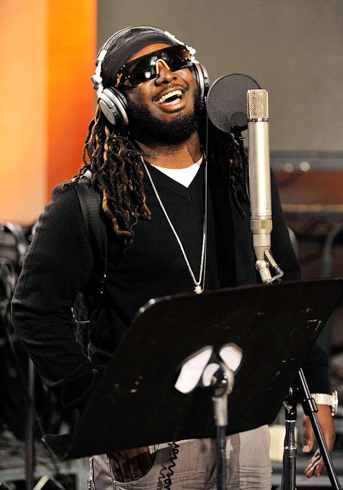 "T-Pain was also in the house. ""Hip-hop is rock 'n' roll to a lot of people around the world right now,"" noted producer Quincy Jones. Kevin Mazur/<a href=""http://www.wireimage.com"" target=""new"">WireImage.com</a> - February 1, 2010"