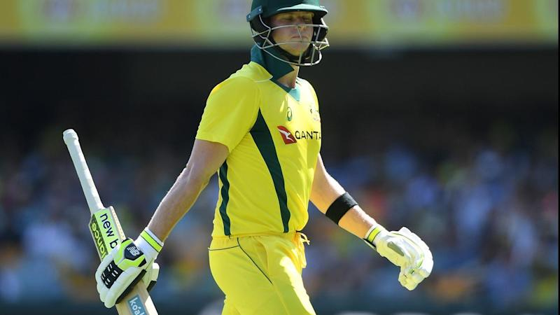 Smith was LBW to England's Joe Root for 18 in the second ODI at the Gabba.