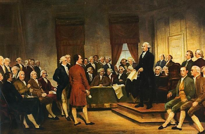 George Washington at the Constitutional Convention of 1787. (via Wikicommons)