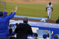 Arizona Diamondbacks Josh Reddick is jeered by fans after striking out in the ninth inning of a baseball game against the Los Angeles Dodgers Thursday, May 20, 2021, in Los Angeles. (AP Photo/Mark J. Terrill)