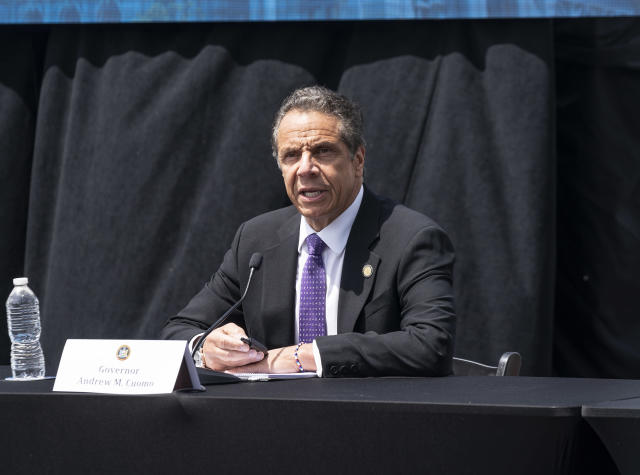 Governor Andrew Cuomo gave the OK for the US Open to be played starting in August in Queens. (Lev Radin/Pacific Press/LightRocket via Getty Images)