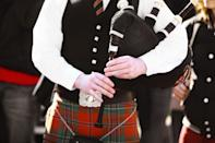 "Bagpipes may be one of the most recognizable symbols of Scotland, commonly played by kilt-clad musicians sounding songs about <a href=""https://youtu.be/BIq-co2n2jM"" rel=""nofollow noopener"" target=""_blank"" data-ylk=""slk:Loch Lomond"" class=""link rapid-noclick-resp"">Loch Lomond</a>. But the origin of the instrument has been traced all the way back to <a href=""https://www.historic-uk.com/HistoryUK/HistoryofScotland/The-Piob-Mhor-or-the-Great-Highland-Bagpipes/"" rel=""nofollow noopener"" target=""_blank"" data-ylk=""slk:ancient Egypt"" class=""link rapid-noclick-resp"">ancient Egypt</a> where, in 400 B.C., the so-called pipers of Thebes used similar instruments made from bone and animal skin. The bagpipes may have then made their way over to Scotland in the hands of Roman invaders."