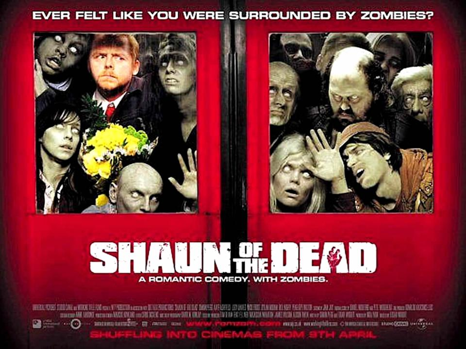 The original poster for Edgar Wright's ZomCom Shaun of the Dead