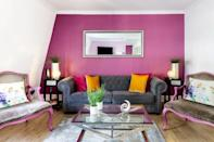 """<p>Add a splash of colour to your escape with a stay at this brightly painted Airbnb off Oxford Street, a location that makes getting around the city a breeze. The eclectic home has vibrant walls, eye-catching art and handpicked, modern furniture. You'll find everything you need in the kitchen, which is especially handy if you plan on ordering one of <a href=""""https://www.elle.com/uk/life-and-culture/culture/g35382388/best-food-boxes/"""" rel=""""nofollow noopener"""" target=""""_blank"""" data-ylk=""""slk:best food delivery boxes"""" class=""""link rapid-noclick-resp"""">best food delivery boxes</a> while here. There's room for seven people too, so you'll want to bring your mates along.</p><p><strong>Sleeps:</strong> Seven</p><p><strong>Price per night: </strong>£304.00</p><p><a class=""""link rapid-noclick-resp"""" href=""""https://airbnb.pvxt.net/oeN529"""" rel=""""nofollow noopener"""" target=""""_blank"""" data-ylk=""""slk:SEE INSIDE"""">SEE INSIDE</a> </p>"""
