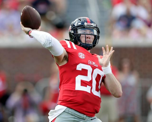 Shea Patterson should be Michigan's starter at the beginning of the 2018 season. His first test? Notre Dame. (AP)