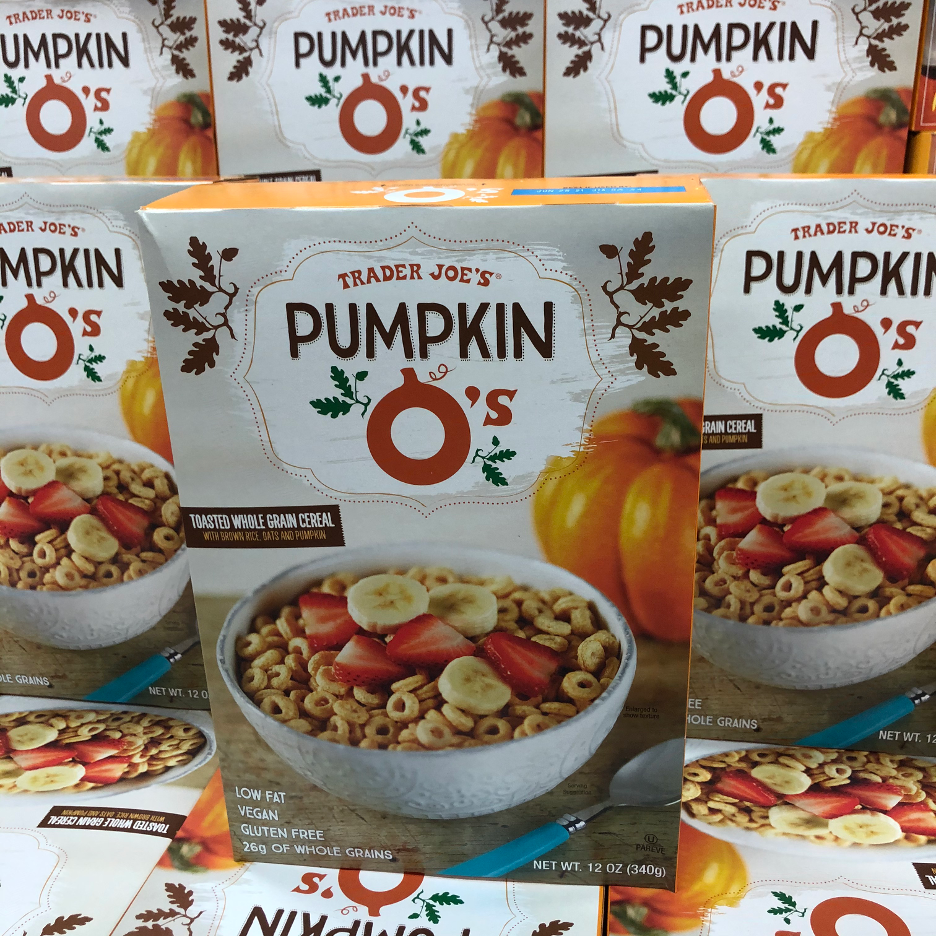 <p>A seasonal cereal swap is definitely in order. <strong>We love these vegan and gluten-free pumpkin O's that contain 26 grams of whole grains as well.</strong> Toss it with some milk and sliced fresh berries for a tasty breakfast option. </p><p><strong><em>RD Pick</em></strong></p>