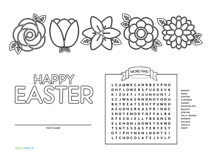 here are some trs adorable placemats you can print out and color in for easter - Pictures That You Can Print Out And Color