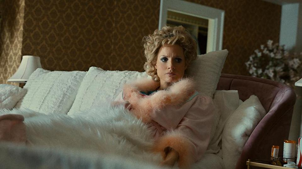 """Jessica Chastain as """"Tammy Faye Bakker"""" in the film THE EYES OF TAMMY FAYE. Photo Courtesy of Searchlight Pictures. © 2021 20th Century Studios All Rights Reserved - Credit: Searchlight Pictures"""