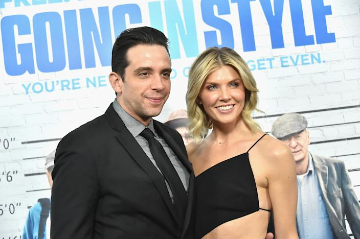Amanda Kloots, depicted with her late husband Nick Cordero, who died in July 2020 after testing positive for COVID-19. (Photo: Mike Coppola/Getty Images)