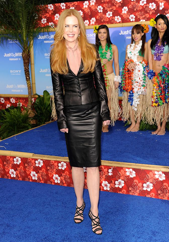 "<a href=""http://movies.yahoo.com/movie/contributor/1800018939"">Nicole Kidman</a> attends the Los Angeles premiere of <a href=""http://movies.yahoo.com/movie/1810150358/info"">Just Go With It</a> on February 8, 2011."