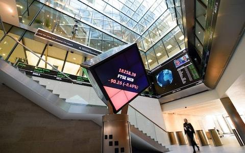 The London Stock Exchange - Credit: Leon Neal/AFP