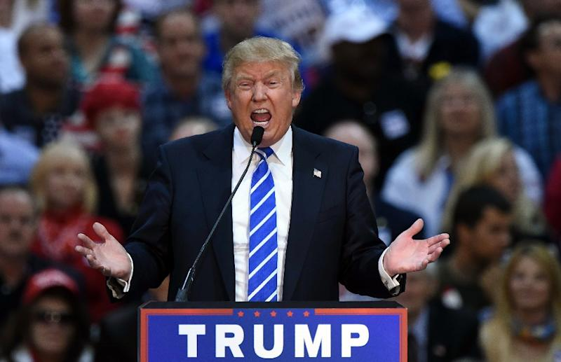 Republican presidential candidate Donald Trump speaks during a rally on October 14, 2015 in Richmond, Virginia (AFP Photo/Mandel Ngan)