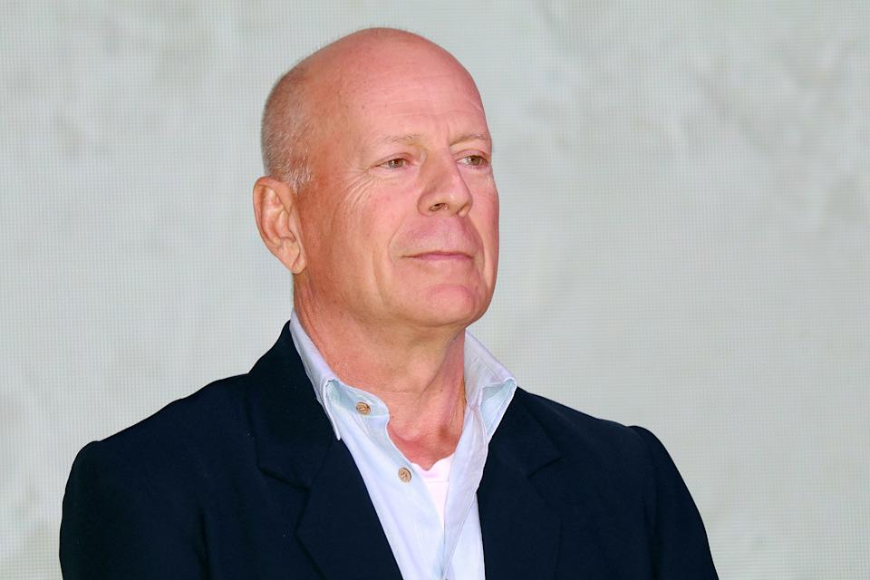 American actor Bruce Willis attends CocoBaba and Ushopal activity on November 4, 2019 in Shanghai, China.