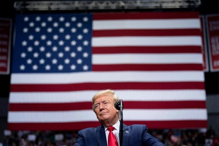 US President Donald Trump faces national crises -- and problems with his reelection (AFP Photo/Brendan Smialowski)