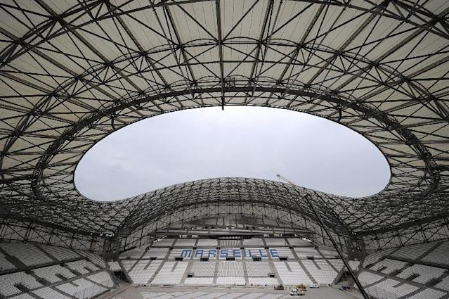 The Stade Velodrome has been completely refurbished ahead of Euro 2016, which France will host, with the capacity increased to around 67,000 (AFP Photo/Boris Horvat)