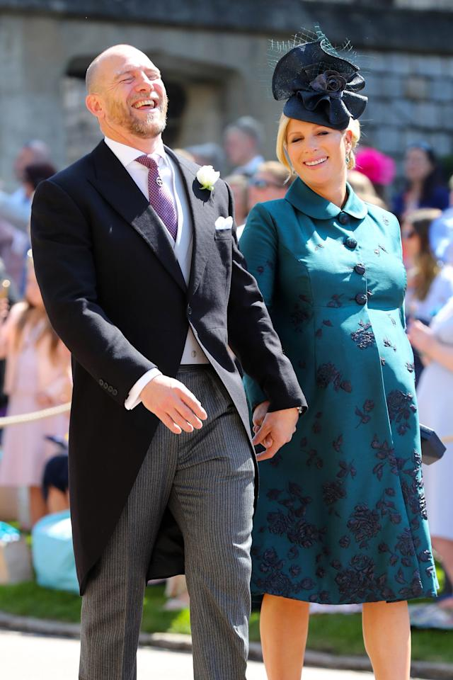 Mike and Zara Tindall at her cousin Prince Harry's wedding in May. (Photo: Gareth Fuller/WPA Pool/Getty Images)