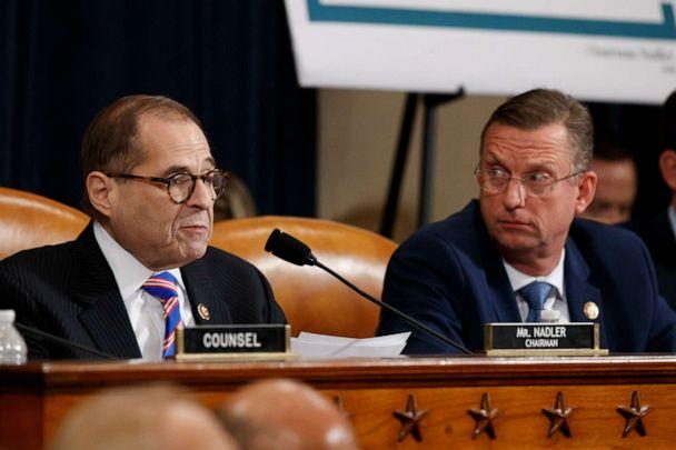 PHOTO: House Judiciary Committee Chairman Rep. Jerrold Nadler, D-N.Y., left, gives his closing statement as ranking member Rep. Doug Collins, R-Ga., listens during the House Judiciary Committee hearing on impeachment on Capitol Hill on Dec. 4, 2019. (Alex Brandon/AP)