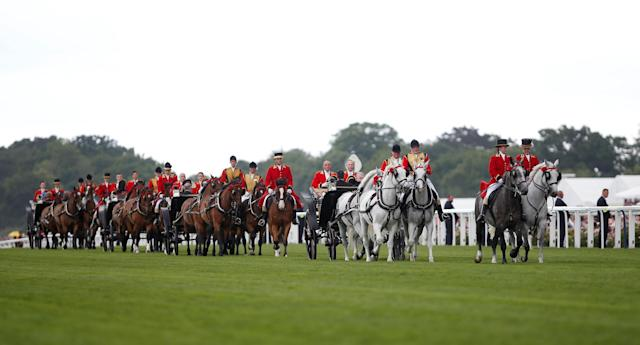 Horse Racing - Royal Ascot - Ascot Racecourse, Ascot, Britain - June 24, 2017 General view as Britain's Queen Elizabeth arrives at Ascot Action Images via Reuters/Matthew Childs