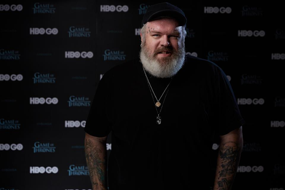 """""""Game of Thrones"""" star (Hodor) Kristian Nairn at a photoshoot for HBO at Fullerton Hotel in Singapore on Dec 5, 2018. (PHOTO: HBO)"""