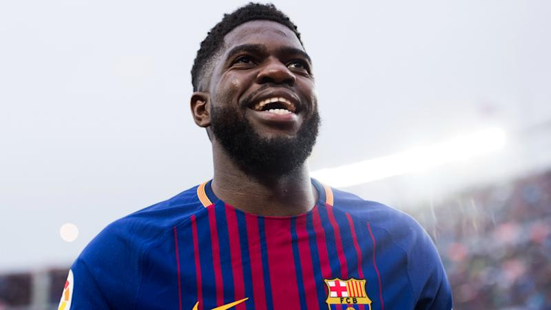 Umtiti 'very happy' at Barcelona amid Manchester United links