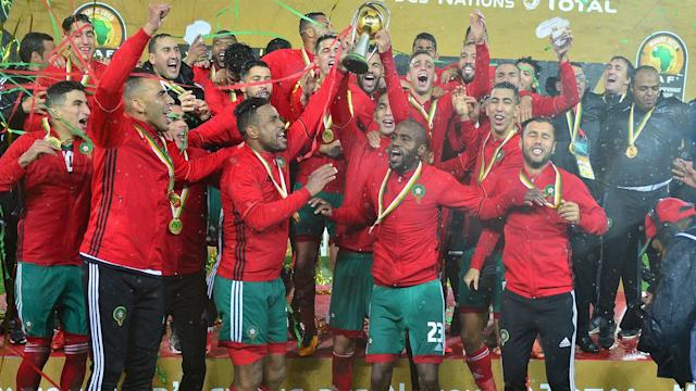 The Morocco internationals joined Jamal Sellami's men in celebrating their maiden African Nations Championship title