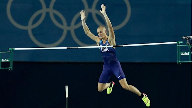 Army Reserve 2nd Lt. Sam Kendricks of Mississippi ended an American medal drought in the pole vault.